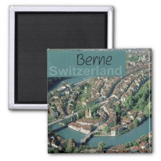Reise-Andenken-Kühlschrankmagnet Berns die Schweiz Quadratischer Magnet