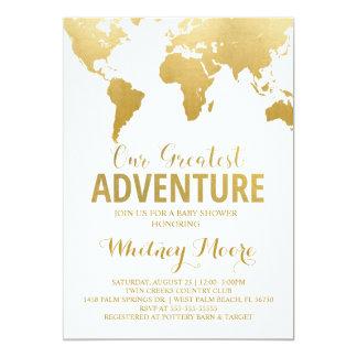Reise-Babyparty-Einladung 12,7 X 17,8 Cm Einladungskarte