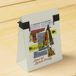 Reise-Bevorzugungskasten South Dakota USA Vintager Geschenkkarton