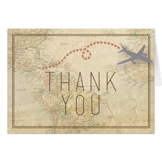 Reise danken Ihnen zu kardieren Grußkarte