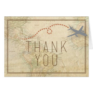 Reise danken Ihnen zu kardieren Karte