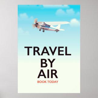 Reise durch Flugzeugverkehrplakat Poster