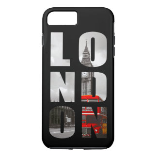 Reise in der London-Stadt-Typografie iPhone 8 Plus/7 Plus Hülle