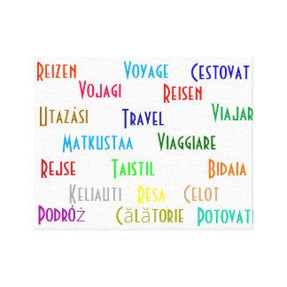 Reise in einigen europäischen Sprachen Leinwanddrucke