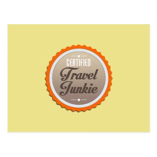 Reise-Junkie Postkarte