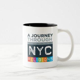Reise-Logo-Tasse Zweifarbige Tasse