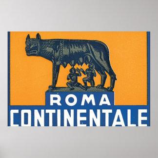 Reise-Plakat-Grafik Roms Continentale_Vintage Poster