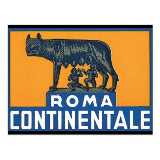 Reise-Plakat-Grafik Roms Continentale_Vintage Postkarten