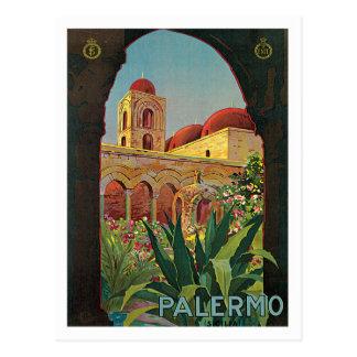Reise-Plakat-Kunst Palermos Sicilia Italien Postkarte