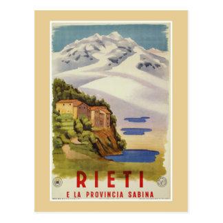 Reise-Plakatanzeige Rietis Sabina Vintage Postkarte