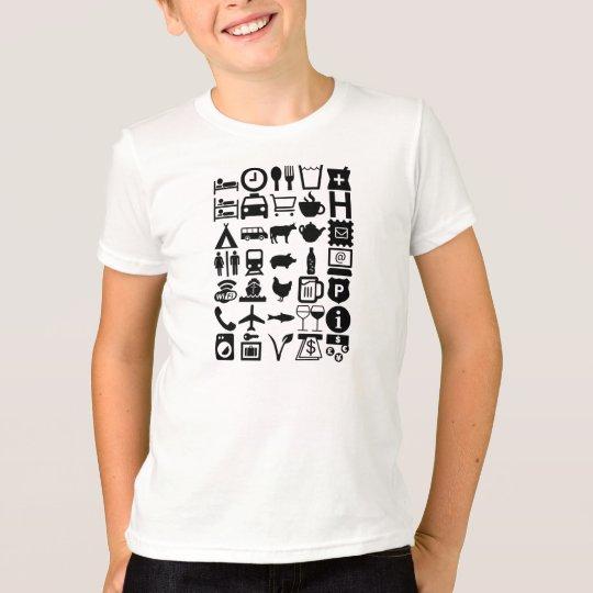 Reise-Shirt, universell, Kinder, schwarz T-Shirt
