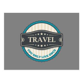 Reise: Sie leben nur einmal Postkarte