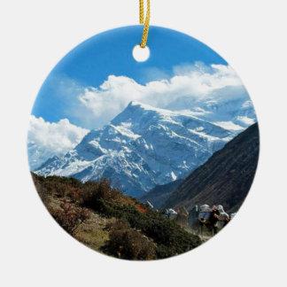 Reise-Sommer Himalaja-Mount Everest-Indiens Nepal Rundes Keramik Ornament