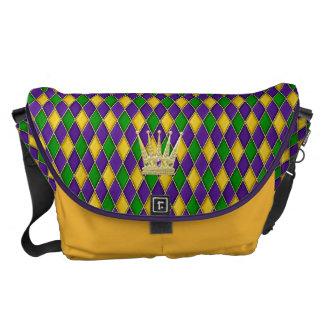 Reise-Tasche der Karneval-Harlekin-Diamant-w/crown Kurier Tasche