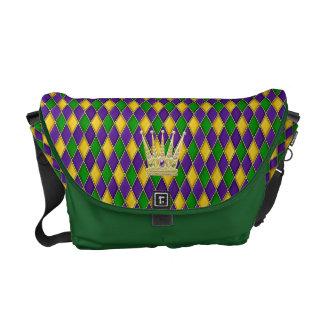 Reise-Tasche der Karneval-Harlekin-Diamant-w/crown Kuriertaschen