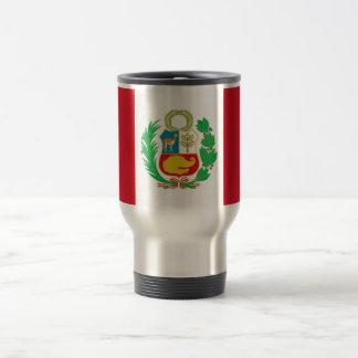 Reise-Tasse mit Flagge von Peru Reisebecher