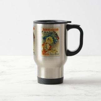 Reise-Tasse: Vintage Kunst Jules Cheret Reisebecher
