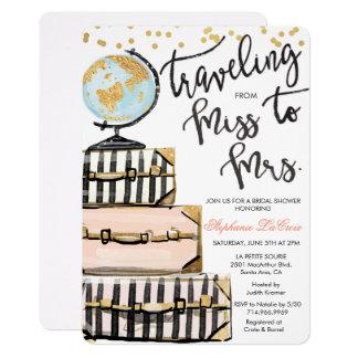 Reise-Themed Brautparty-Einladung Karte
