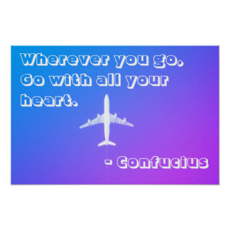 Reise-Traum-Zitat Poster