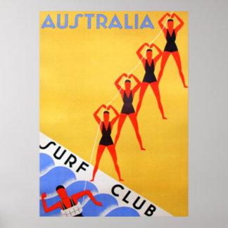 Reise-Vintages Australien-Plakat Poster