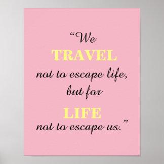 Reise-Zitat-Plakat Poster