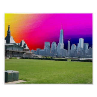Reise zum Freiheits-Turm New York Manhattan Poster