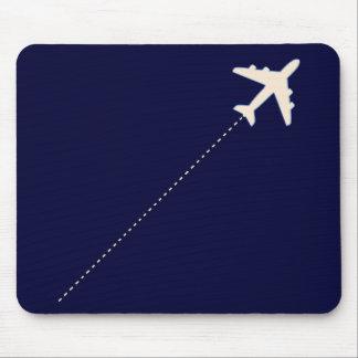 Reiseflugzeug mit punktierter Linie Mauspads