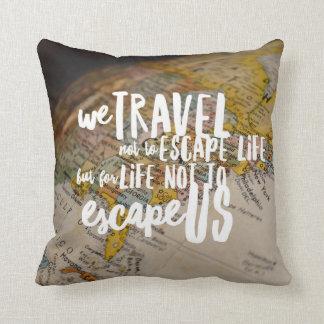 Reisen die Welt Kissen