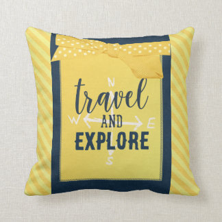 Reisen Sie und erforschen Sie Kompass-Kissen Kissen
