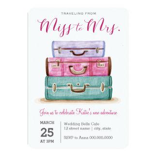 Reisen von Fräulein zu Brautparty Frau-Pink Karte
