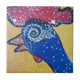 Reisen zur Huhnkopfgalaxie Keramikfliese