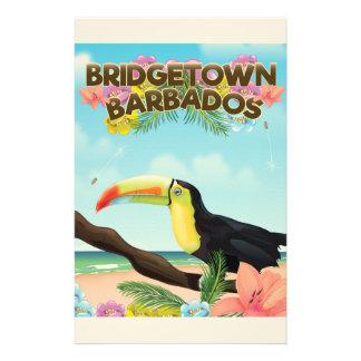 Reiseplakat Bridgetowns Barbados Toucan Briefpapier