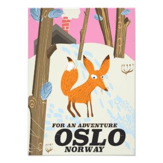Reiseplakat Fuchses Oslos Norwegen Vintages Fotodruck