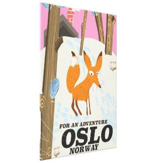 Reiseplakat Fuchses Oslos Norwegen Vintages Leinwanddruck