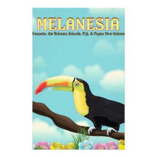 Reiseplakat Melanesiens Toucan Briefpapier