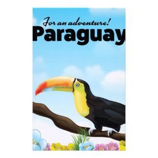 Reiseplakat Paraguays Toucan Briefpapier