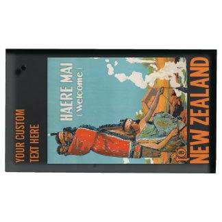 Reisetabellen-Kartenhalter Neuseelands Vintager