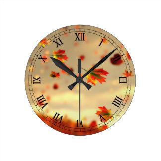 Reiten Sie die Oktober-Brisen-Uhr Runde Wanduhr