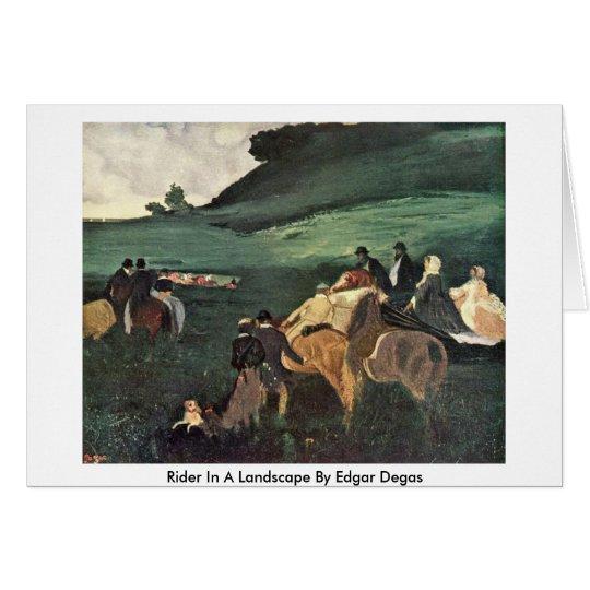 Reiter in einer Landschaft durch Edgar Degas Karte