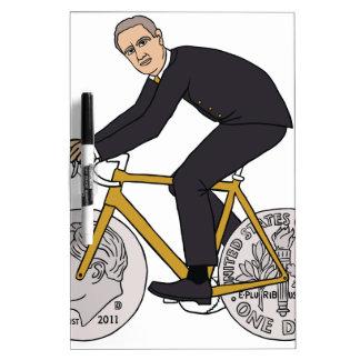 Reitfahrrad Franklins D Roosevelt mit Memoboard