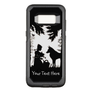 Reithaube im Holz-Wolf, der Blumen hält OtterBox Commuter Samsung Galaxy S8 Hülle