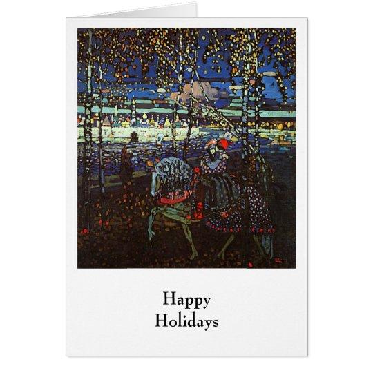 Reitpaare, Wassily Kandinsky 1907 Grußkarte