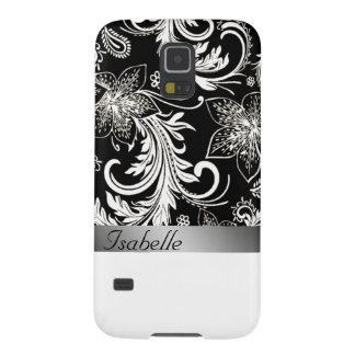 Reizend silbriges schwarzes Vintages mit Galaxy S5 Cover