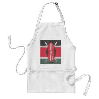 Reizende Kenyan-Staatsflagge fertigen Produkt Schürze
