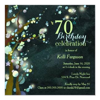 Reizende NachtSassy 70. Geburtstags-Party Quadratische 13,3 Cm Einladungskarte