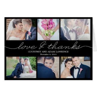 Reizende Schreibens-Hochzeit danken Ihnen, - Karte
