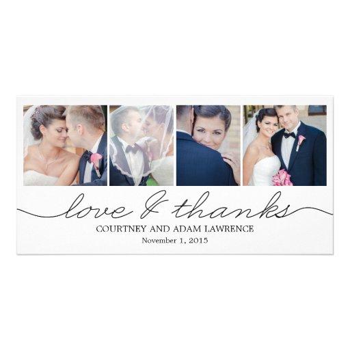 Reizende Schreibens-Hochzeit danken Ihnen Karten - Foto Grußkarte