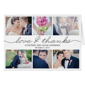 Reizende Schreibens-Hochzeit danken Ihnen, - Weiß Mitteilungskarte