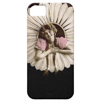 Reizende Vintage Blumen-Frauen iPhone 5 Schutzhüllen