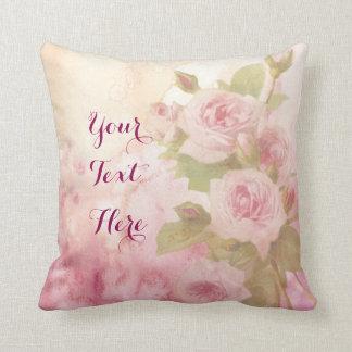 Reizende Vintage weiche rosa RosenblumenWatercolor Kissen